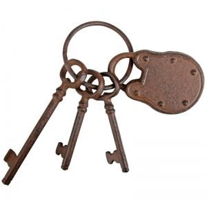 Cast Iron Keys With Padlock