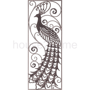 Cast iron peacock wall Panel (left)