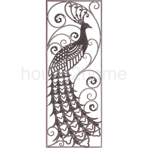 Cast iron peacock wall panel (right)