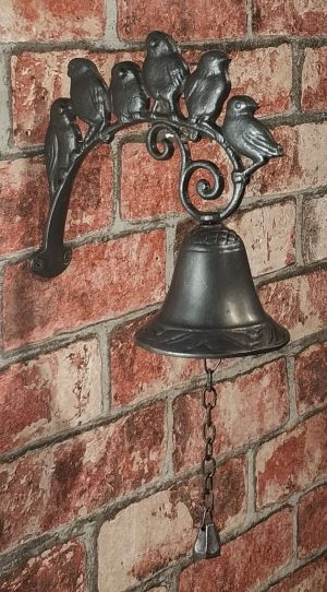 Cast iron Doorbell birds